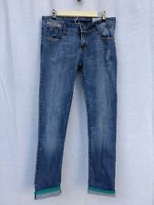Diesel Industry Matic mens blue denim jeans distressed zip fly size 30/32