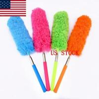 US Extendable Duster Telescopic Microfiber Cleaning Brush Feather Extend Brush