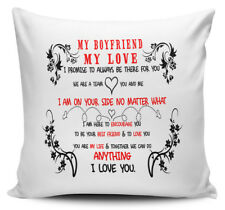 My Boyfriend My Love I Promise To Always Be There For You Gift Cushion Cover