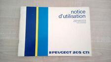 Libretto Uso e Manutenzione Peugeot 205 GTI 1985 + Aggiornamenti ITA FRA GER NDL