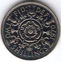 1970 2s 24d Florin TWO SHILLINGS Elizabeth II - PROOF - UNCIRCULATED yy