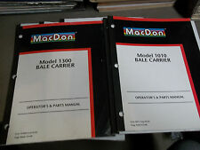 7 Macdon Operators & Parts Manuals Bale Carrier and other