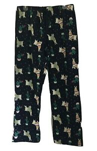Old Navy Womens Pajama Lounge Pants Size M Blue with Llamas Tie Waist Cotton