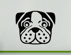 Bulldog Dog Pet Animal Cute cAR  Wall Decal Art Sticker Picture