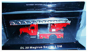 "Die Cast "" DL 30 Magirus Saurer 2 DM "" Firefighters of Fire Truck Scale 1/72"