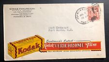 1934 Panama Kodak Advertising Cover to Fort Davis Canal Zone