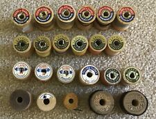 Vintage Sewing Thread Small Wooden Spools Lot of 23 Coats Clark's Belding Plus!