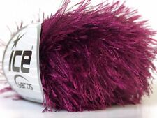 Wine Eyelash Yarn - Ice Fun Fur 22796 50 gram