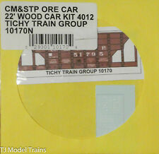 Tichy Train Group N #10170N CM&STP Ore Car-22' Wood Car Kit 4012 (Decal)