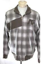 ANALOG by BURTON Fleece Full Zip Grey Plaid Sweater sz XL | Sweatshirt Soft&Warm
