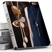 Damen Halskette Schmuck Collier + Anhänger Gold Schmetterling Vintage Kette M10