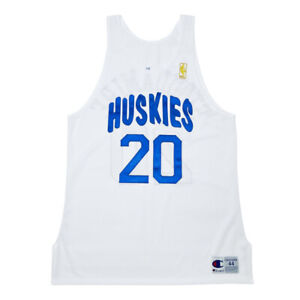 Rare Custom NBA Toronto Raptors Huskies #20 Stoudamire Pro Cut Jersey Size 44+2