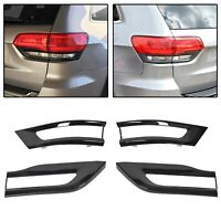 For 2014-2020 Jeep Grand Cherokee Gloss Black Tail Light Lamp Cover Trim Bezel