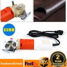 110V Electric Fabric Leather Cutting Machine Cloth Cutter Round Scissors Blade