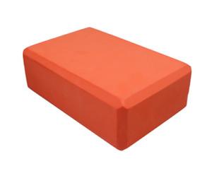 1pc Orange Yoga Block Foam Brick Stretching Aid Gym Pilates