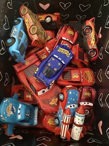 Lot of 27 Loose Disney Pixar Cars  - Box Of Lightning McQueens Some Rare.