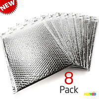 """Lot of 8 Uline 11 x 15"""" Cool Shield Thermal Bubble Mailers Envelopes Silver NEW"""