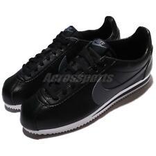 Nike Classic Cortez Size UK 9 EU 44 Men's Trainers Shoes Black White Leather