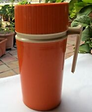 Vintage King Seely Thermos Model 7202 Pint Size Orange Color Complete
