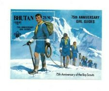 SPECIAL LOT Bhutan 1986 563 - Girl Guides Ovpt - 25 Souvenir Sheets - MNH