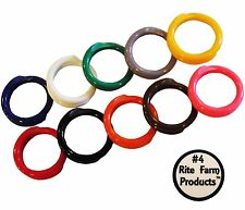 """10 MULTI COLORED #4 LEG BANDS 1/4"""" CHICKEN POULTRY CHICK QUAIL PIGEON DUCK GOOSE"""