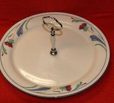 "Lenox Chinastone Poppies On Blue 10 3/4"" Round Serving Platter w/handle"