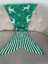 Christmas Baby Mermaid Tail Blanket Soft Warm Crochet