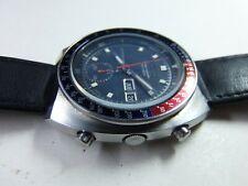 SEIKO POGUE 6139-6002 AUTOMATIC Pepsi-Bezel Blue-Dial Chronograph men date watch