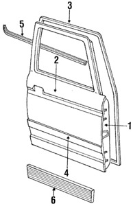 OEM Ford Driver's Side Front Door Weatherstrip Seal Ranger Bronco II Left 84-92