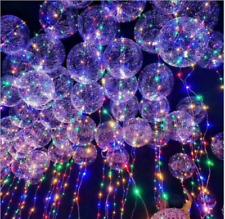 "Christmas decoration led string light with transparent helium balloons 18"" 1pcs"