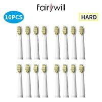16pcs Fairywill Hard Replacement Heads Sonic Electric Toothbrush FW 508 507 917