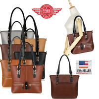 Women Leather Purses and Handbags Shoulder Hobo Messenger Crossbody Tote Bag T)$