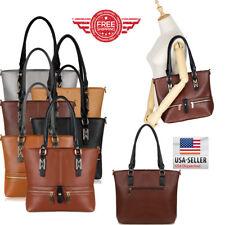 Women Leather Purses and Handbags Shoulder Hobo Messenger Crossbody Tote Bag T4
