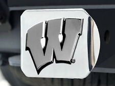 """Wisconsin Badgers Heavy Metal Trailer Hitch Cover [NEW] Car Auto Truck 2"""" CDG"""