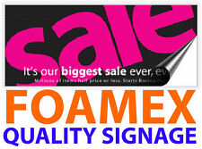 FOAMEX SIGN FULL COLOUR 3MM / 5MM THICK - INDOOR / OUTDOOR