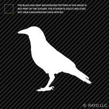 Crow Sticker Die Cut Decal Self Adhesive Vinyl raven blackbird #2