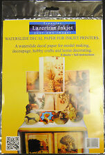Lazertran Premium Waterslide Decal Paper For Inkjet Printers 8 x A4 Sheets