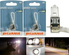 Sylvania Basic H3 55W Two Bulbs Halogen Fog Light Replace Plug Play Lamp Stock