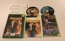 Shenmue II 2 Microsoft Original Xbox Complete Inc DVD Sega Rare