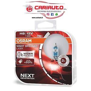 Coppia H8 Lampadine Osram Night Breaker LASER 35W 12V 64212NL-HCB