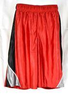 Nike Boys Basketball Shorts Red w/ Black & Grey Sport Athletic Large (L) NWT NEW