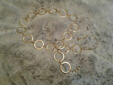 Women's Gold Tone Metal Circle Themed Belt 44 Inches EUC! Worn Once