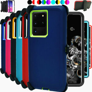 For Samsung Galaxy S20+ Plus 5G Shockproof Heavy Duty Case with Belt Clip