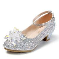 Princess Girls Party Shoes Children Sandals Sequins High Heels Shoes  Sandals