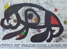 Joan Miro at Pace Columbus Offset Lithograph signed Poster 1979