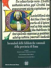 INCUNABOLI DELLE BIBLIOTECHE DELLA PROVINCIA DI ENNA SCARDILLI VENEZIA NUOVO!