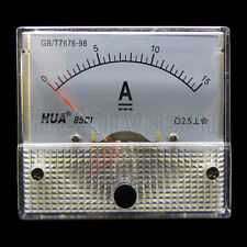 DC 15A Analog Panel AMP Current Meter Ammeter Gauge 85C1 0-15A DC White