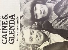 m4-8a ephemera 1970s film article michael caine glenda jackson movie