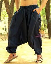 Mens Navy Blue Harem Pants Yoga Casual Trouser Womens Genie Hippie Dance Pants
