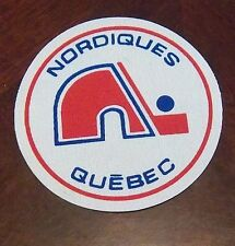 Quebec Nordiques  WHA Cloth Patch 1970's  LG 5 in. in diameter
